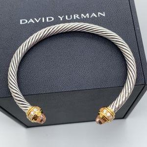 David Yurman 925 750 Morganite 5mm Bracelet Sz M